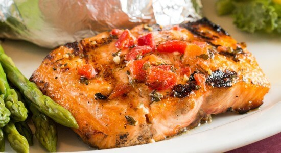 Adam's Grille & Taphouse Severna Park Grilled Salmon