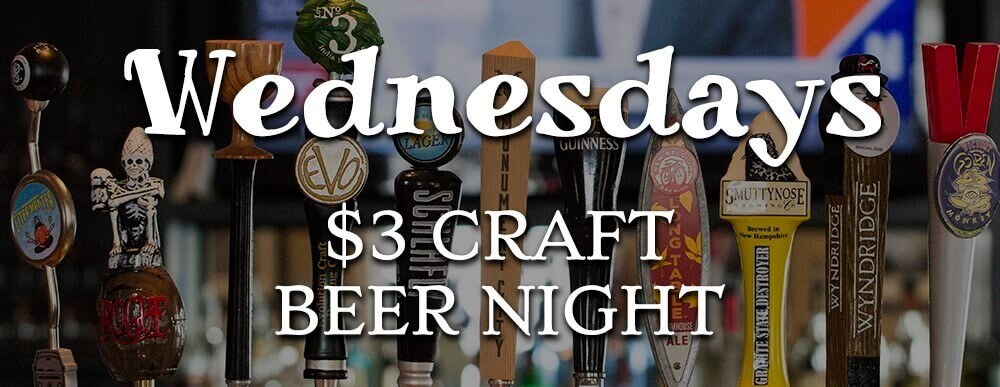 Adam's Severna Park $3 Craft Beer Wednesdays