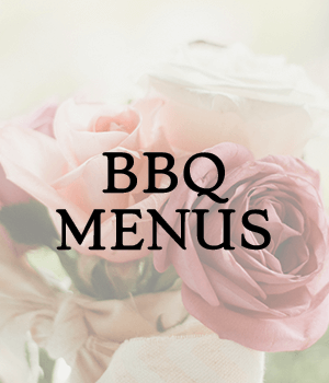 bbq wedding catering menus
